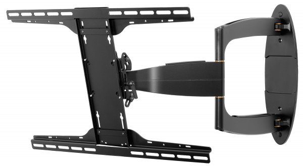 "Peerless PerfectMount Full Motion Wall Mount 37""-55"" left side view extended tilt"